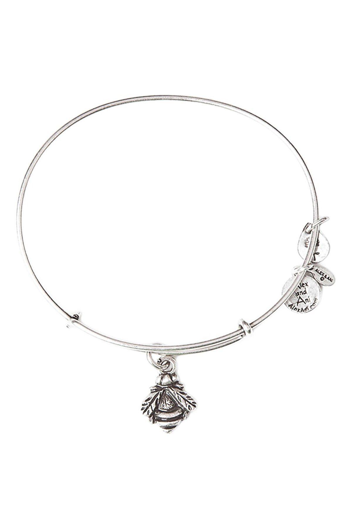 Alex and ani bumblebee expandable charm bracelet