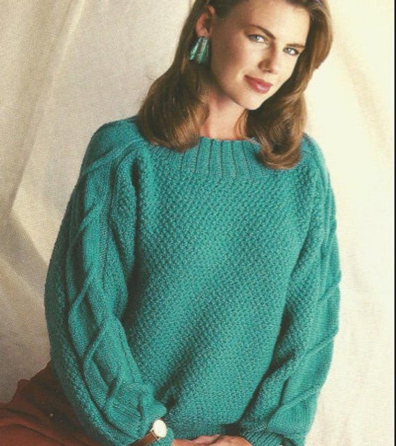 0ba8517fe Knit Womans Sweaters 2 Patterns  OhhhMama  jumper tunic pullover sweater  vintage pattern instant dow