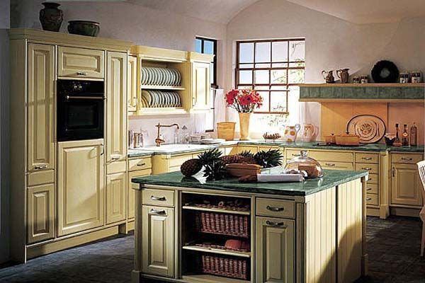 french country kitchen cabinets French Country Styled Kitchen