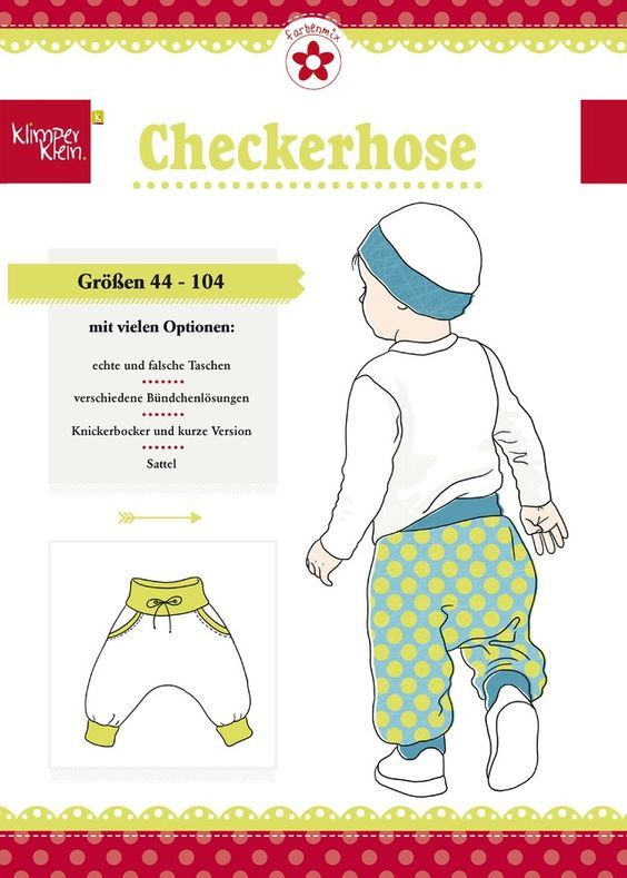 Checkerhose, Klimperklein, Papierschnittmuster | DIY | Pinterest ...