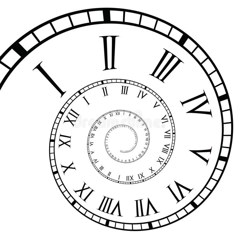 Spiral Roman Numeral Clock Time Line Roman Clock Time Line In A Spiral Form Affiliate Clock Time Numer In 2020 Roman Numeral Clock Roman Clock Clock Drawings