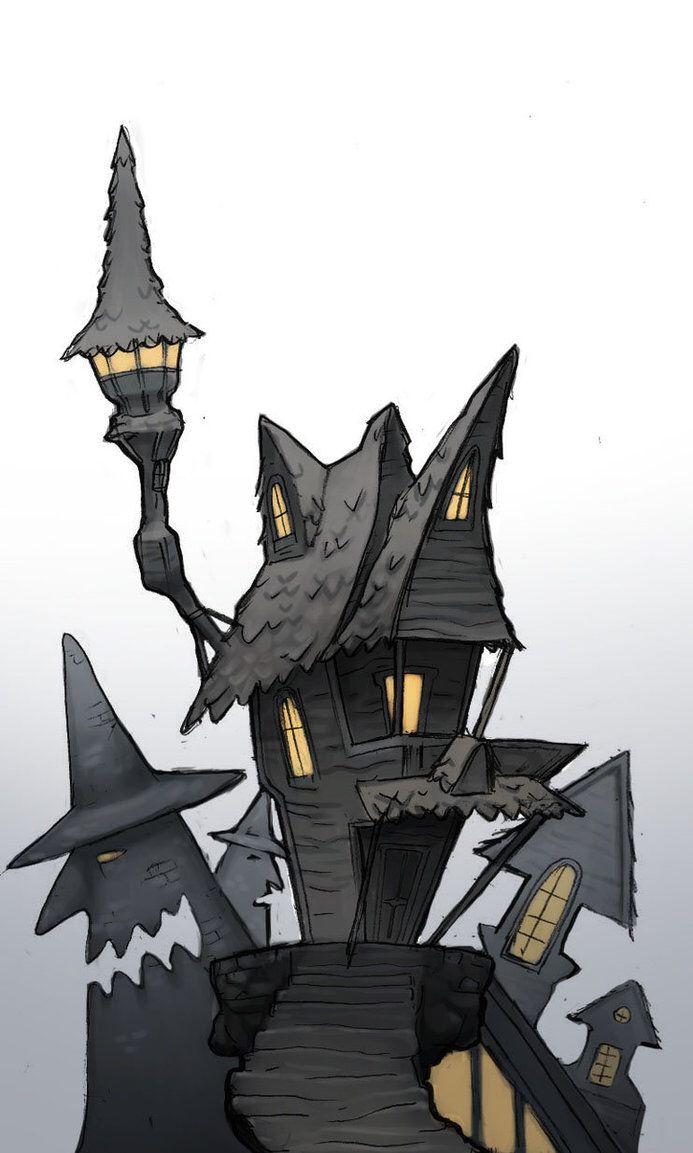 halloweentown buildings the nightmare