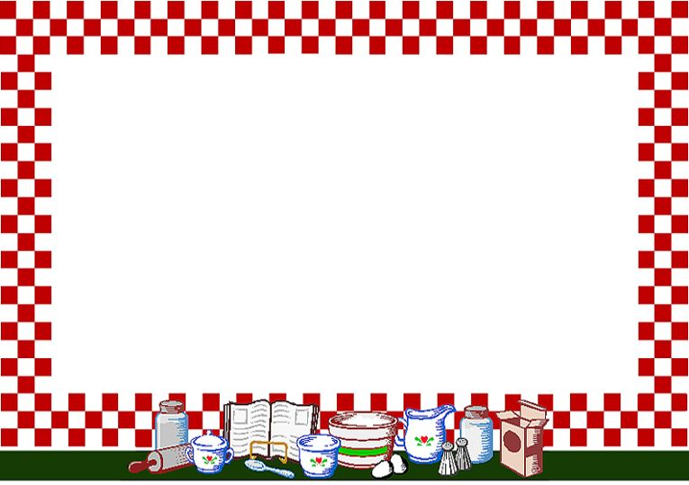 Related Pictures Kitchen Clip Art Borders Rezepte Pinterest - free recipe card templates for word