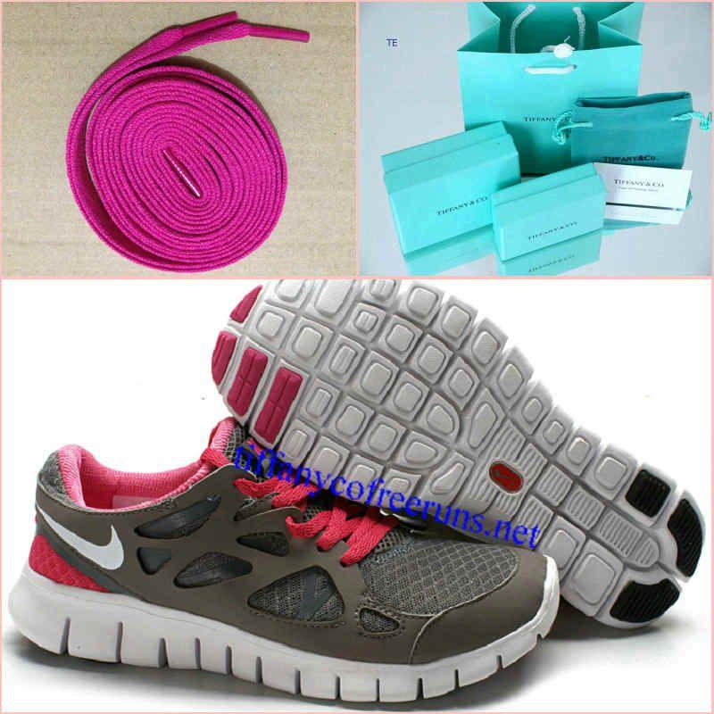 brand new 80c90 a075d Womens Tiffany CO Earrings Rose Lace Nike Free Run 2 Gray Fuchsia Shoes