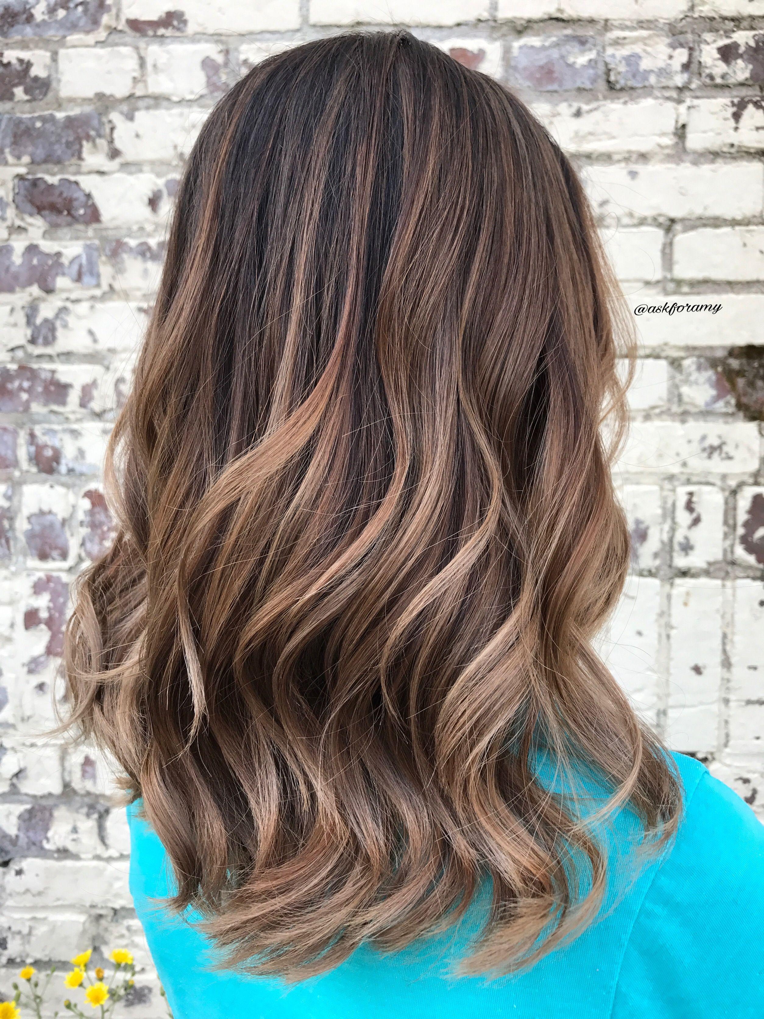 Cool Toned Balayage Caramel Brunette Brown Hair By Askforamy Balayage Hair Balayage Hair Caramel