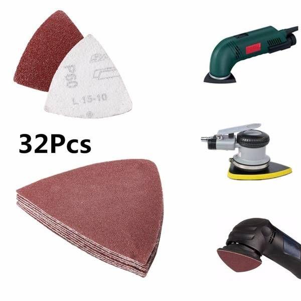 Oscillating Multi Tool Sand Paper Sheet Disc Sandpaper Sanding Triangular Type