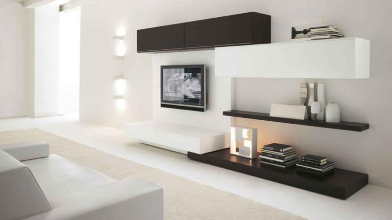 Minimal Living Room Furniture Design with TV | Arquitectura y diseño ...
