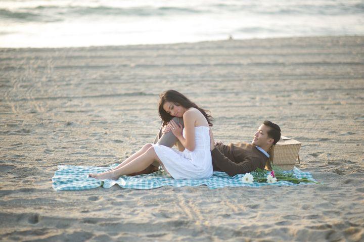 redondo beach pier engagement photographer / lanny + richard