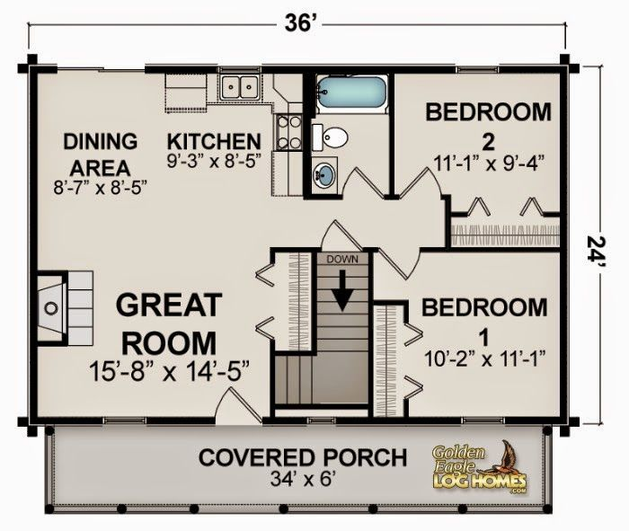 Small House Plans Under 1000 Sq Ft Google Search Small House Floor Plans Small Cottage Plans Log Home Floor Plans