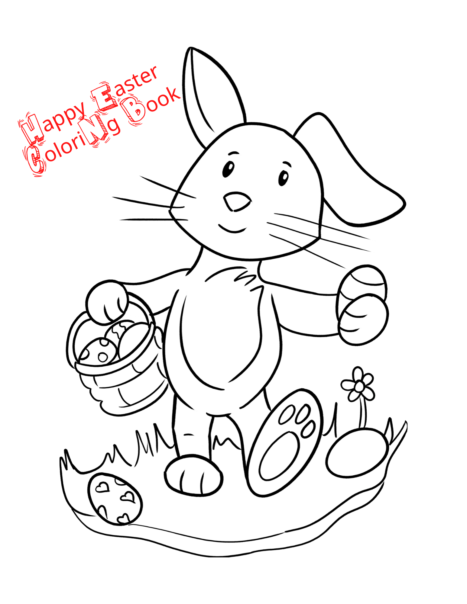 Easter Coloring Book For Kids Toddler Coloring Book Bunny Coloring Pages Easter Coloring Book