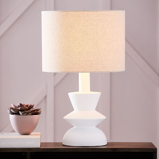 This Would Require A White Shade But Could Be Fun Totem Table Lamp Medium West Elm Table Lamp Modern Lamp Bedroom Lamps