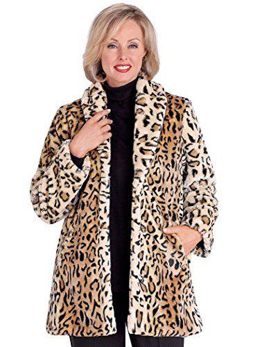 AmeriMark Women's Animal Print Faux Fur Coat XL (18-20
