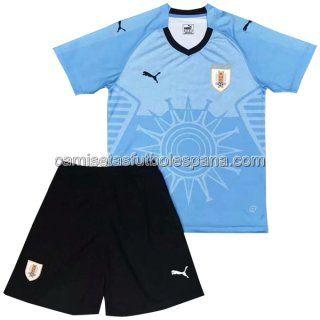 907b658283f3a Niños Primera Camiseta del Uruguay Conjunto Completo 2018 ...