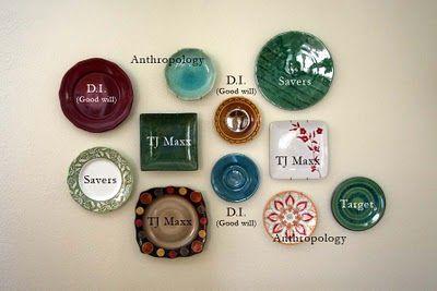 Mandy Douglass' plate wall