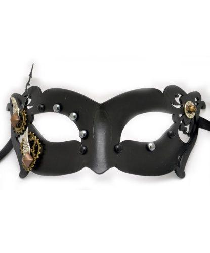 Венецианская маска классической формы выполнена в оригинальном Steampunk стиле. Купить можно по ссылке — http://fas.st/qCGwvh