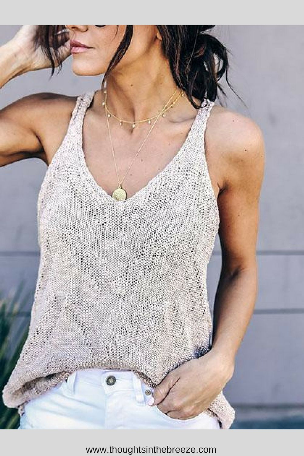 b9290c2e08689  33.99 Chicnico Simple Knit Tank Top. Fashionable sexy camisoles for any  occasion