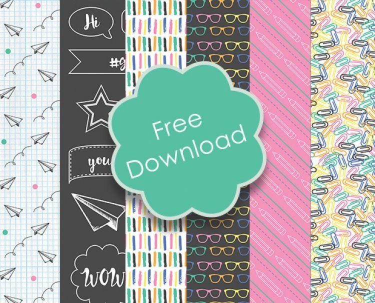 Free Printable Back to School Papers   Planner Ideas   Digital paper ...