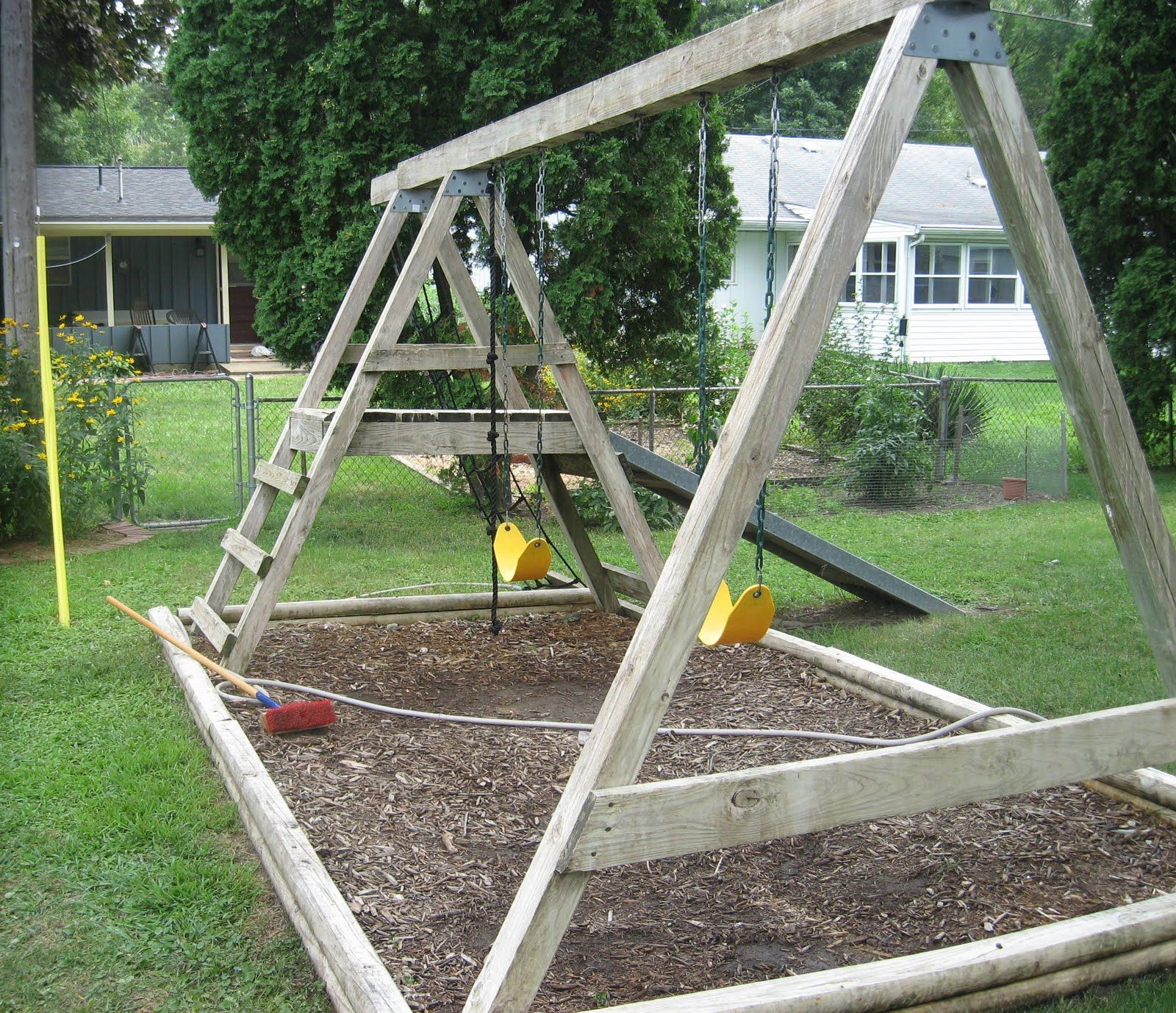 How To Refinish A Wood Swing Set #stepbystep