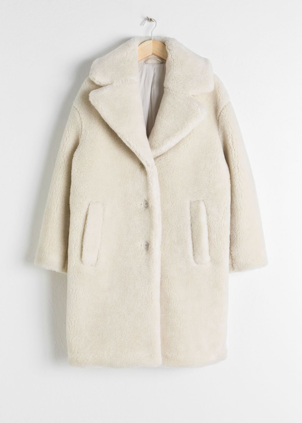 d13b006078 Faux Shearling Coat - Cream - Fauxfur -   Other Stories
