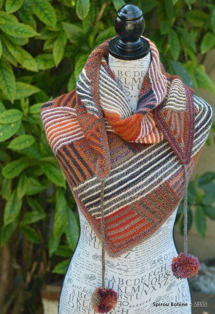 Log cabin shawl a pattern of cassie castillo knitted for Spirou bobine