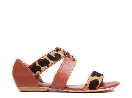 ZILIAN :: Loja Online | sapatos :: SPRING SUMMER :: Sandálias em pele camel