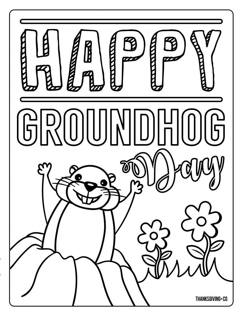 Groundhog Day Coloring Pictures Colouring Pages Adorable Groundhog Day Coloring Pages In 2020 Printable Coloring Pages Christmas Present Coloring Pages Coloring Pages [ 1095 x 846 Pixel ]