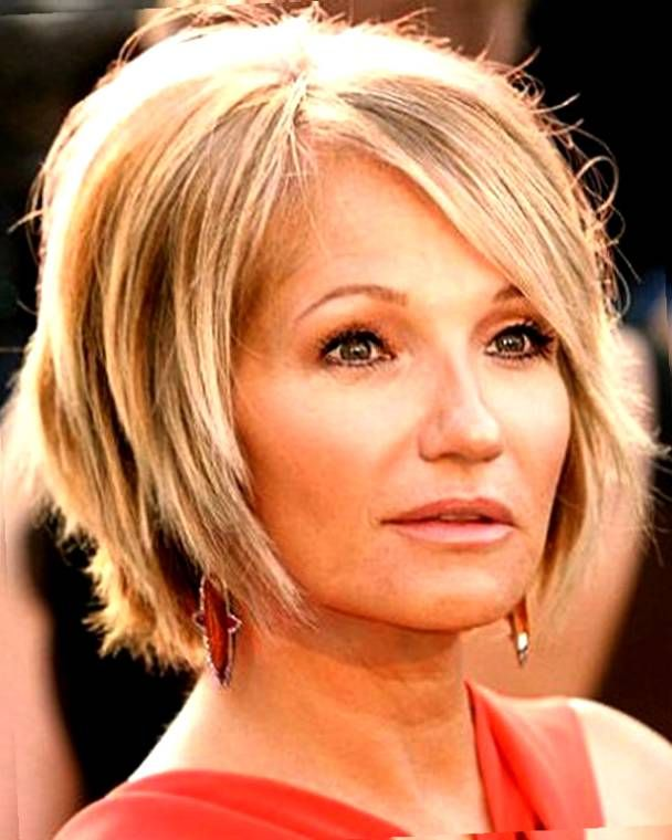 Image Result For Best Hairstyle For Square Face Over 40