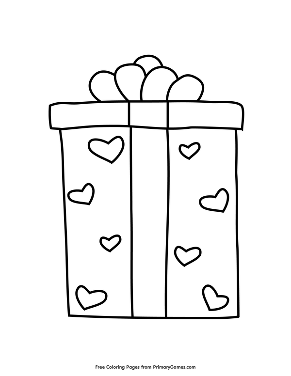 Christmas Presents With Box Coloring Page Free Coloring Sheets Coloring Sheets Coloring Pages For Kids