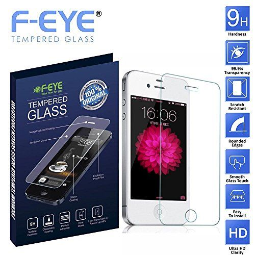 F-EYE® Apple iPhone 4 Tempered Glass, Ultra Clear Screen Protector, 2.5D Round Edge - 0.33mm Thickness 9H Hardness, Made From Real Tempered Glass Screen Protector, Shatterproof, Anti-Scratch Bubble-free, Oleophobic Coating, Safety Packing And Easy To Install In Your Smart Phone [Apple iPhone 4] F-EYE http://www.amazon.in/dp/B019OIDZOQ/ref=cm_sw_r_pi_dp_ijxUwb08T12TZ
