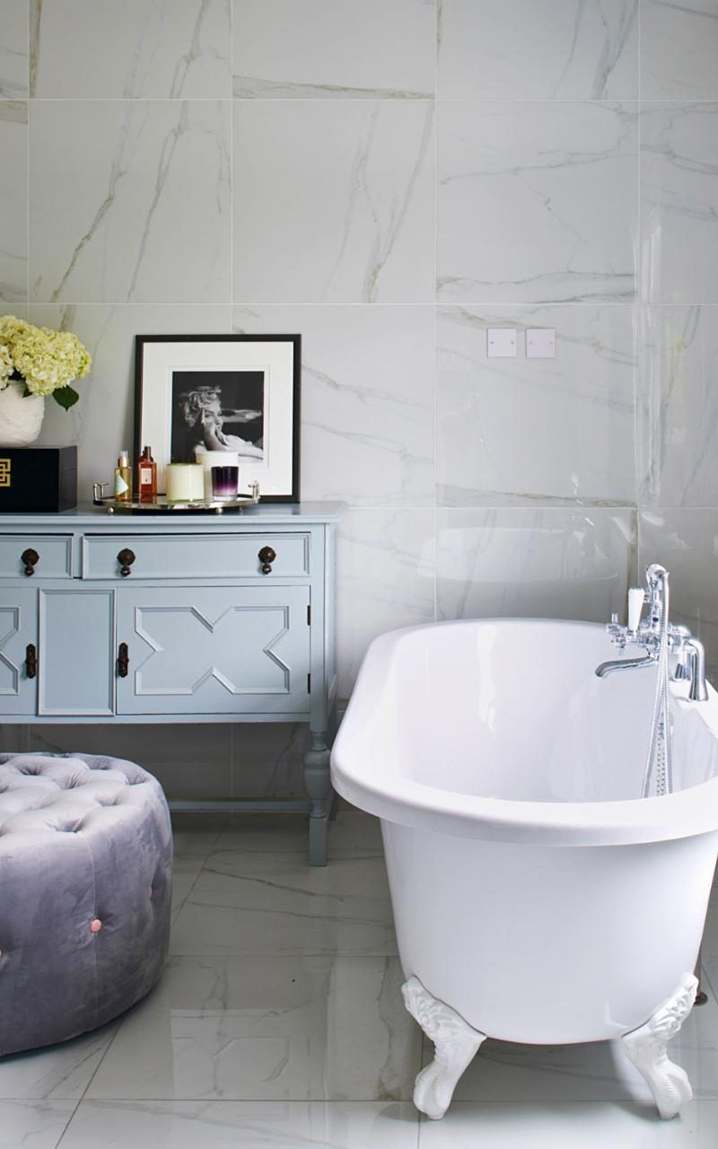 The bathroom suite is from Bathstore (bathstore.com), while the ...