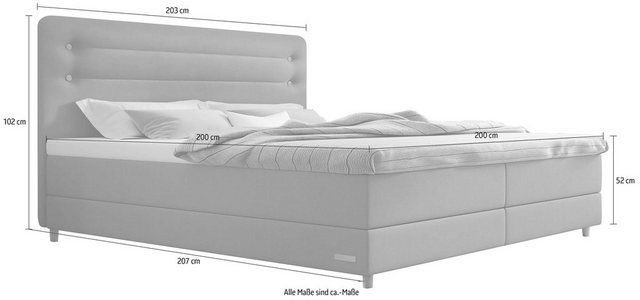 Photo of Boxspringbett »Fidelio«, inkl. BULTEX® Topper, Holzfuß in Eiche