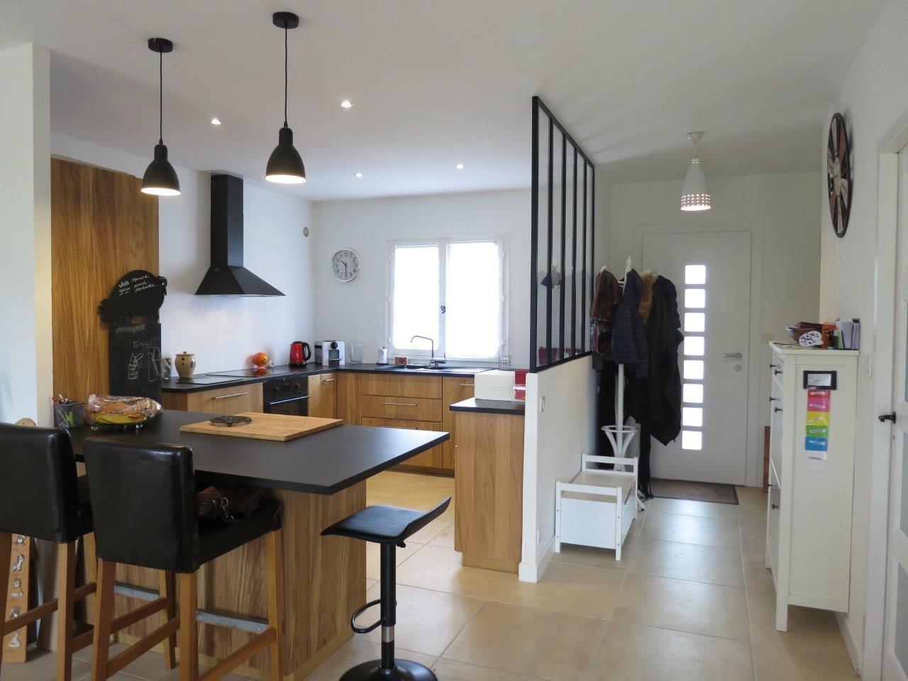 Renovation Partielle Maison Annees 80 Merignac Home Et Vous Idee Deco Cuisine Ouverte Idee Deco Cuisine Idee Entree Maison