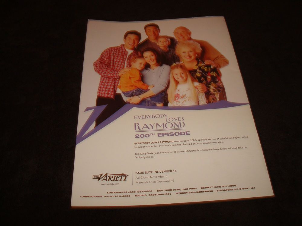 EVERYBODY LOVES RAYMOND 200th episode ads article Ray Romano, Peter Boyle