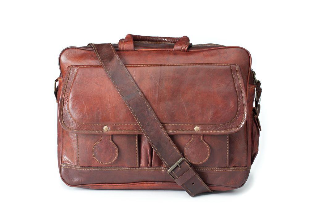 The Professor - Leather Bag / Vintage / Handmade / Messenger Bag / Satchel  / Carry