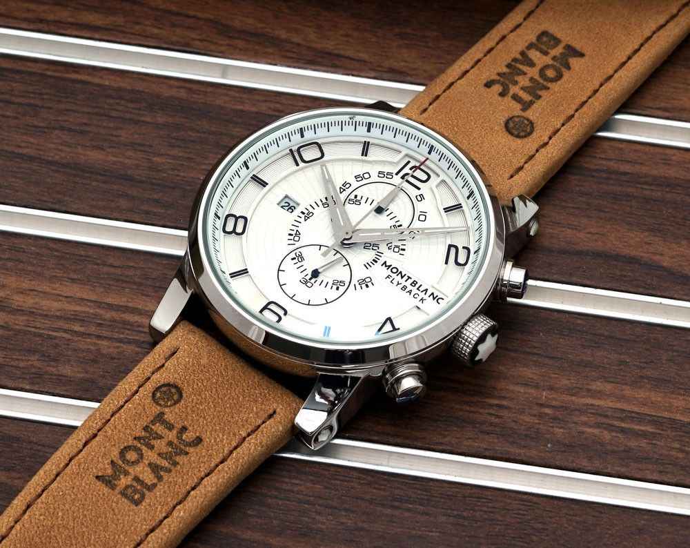 6b13fcc83b5 Montblanc Watches Flyback with Leather Bracelet | Watch Design in ...