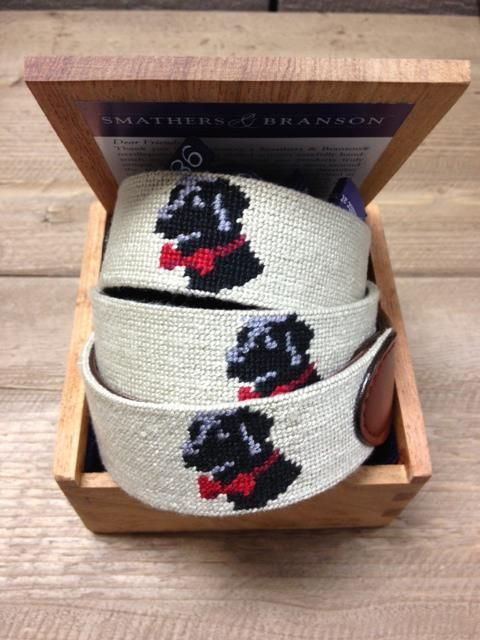 #SoPro Needlepoint belt. You can't do wrong with the perfect pup sewn into your belt. #CountryClubPrep