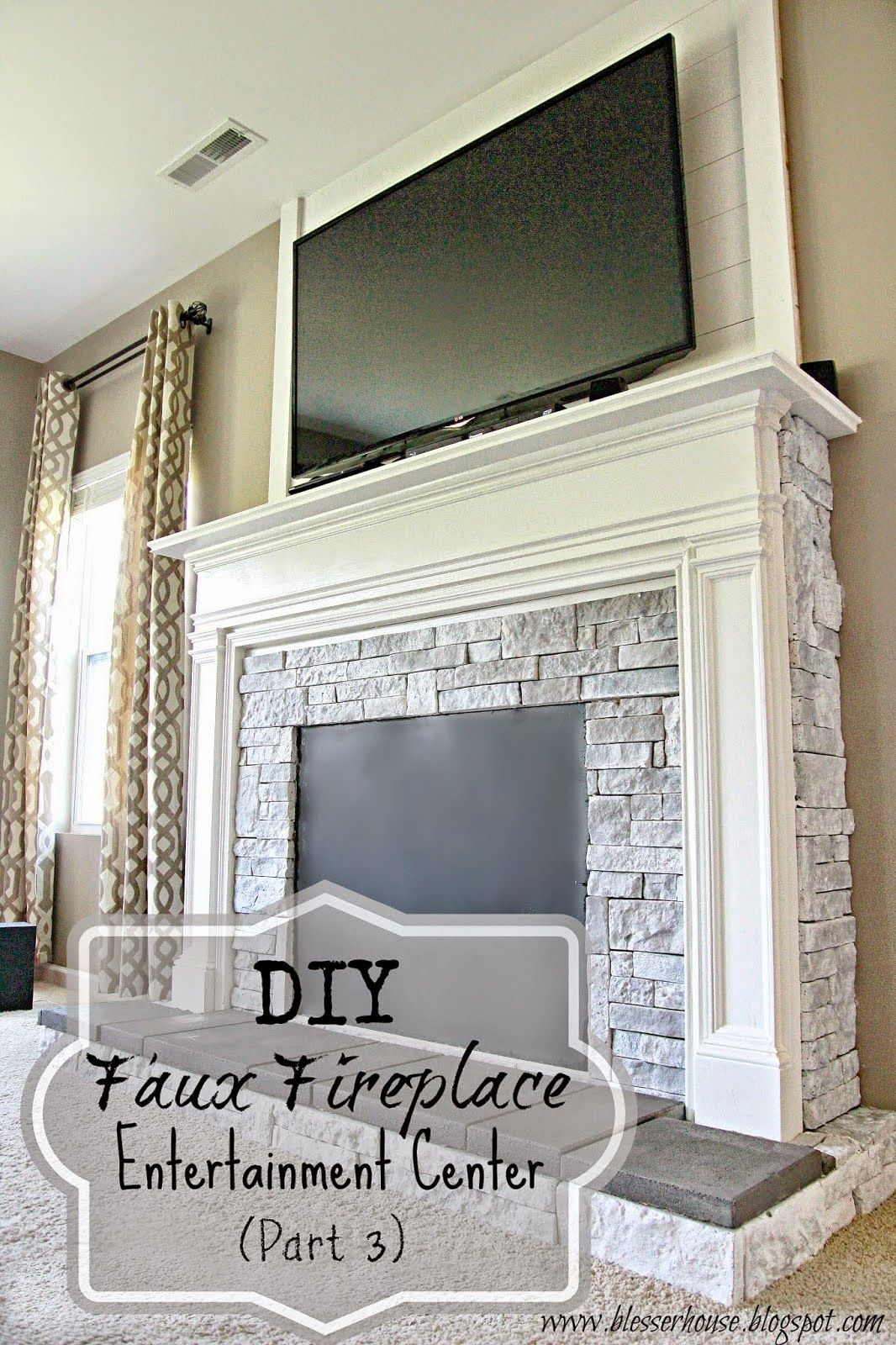 Blessuer house diy faux fireplace for under the big reveal