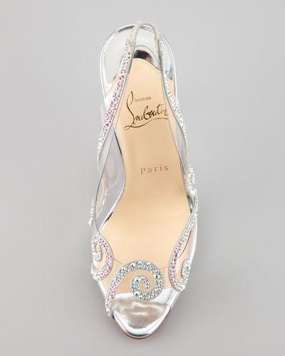 Crystal Christian Louboutin Slingback Wedding Shoes - Google Search