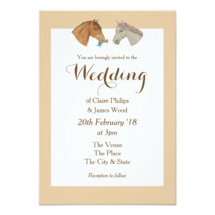 Floral Horse Wedding Invitation Wedding Invitations Country