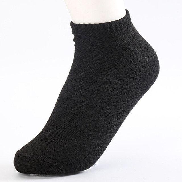 20Pcs=10Pair Solid Mesh Men's Socks Invisible Ankle Socks Men Summer Breathable Thin Boat Socks Size EUR 38-43 cheap price