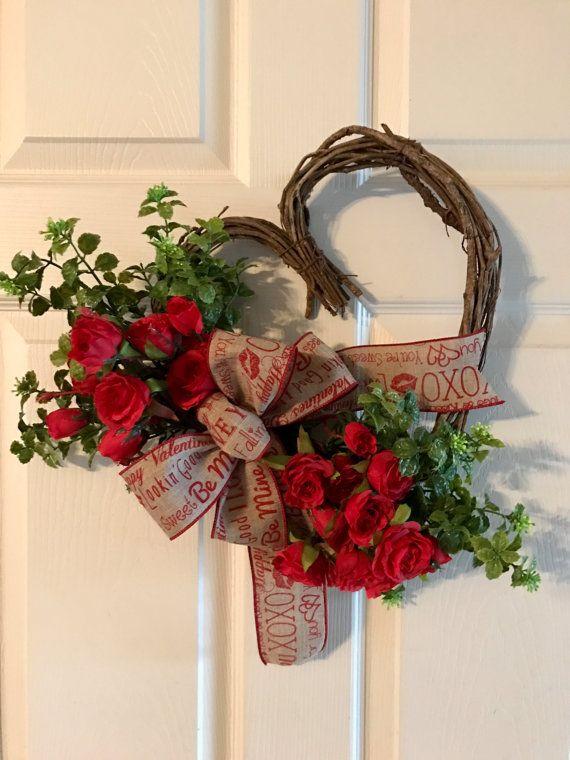 VALENTINE WREATHHeart Grapevine Wreath Valentine Red by Toleshack