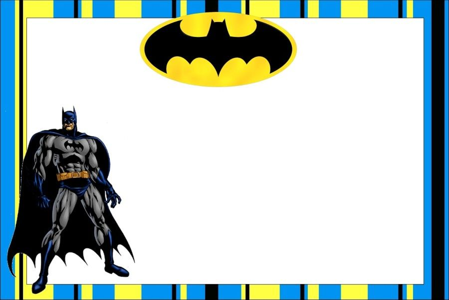 Download Free Printable Batman Birthday Invitations