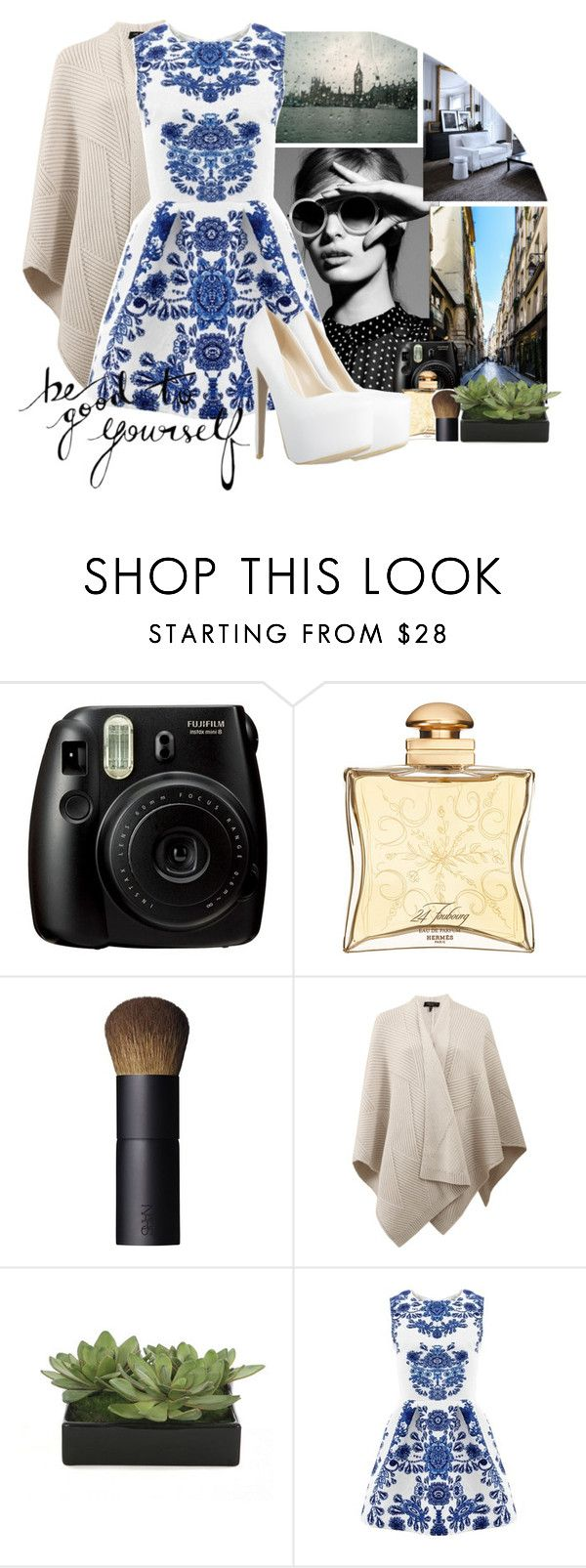 """Totallits"" by genaa ❤ liked on Polyvore featuring Hermès, NARS Cosmetics, rag & bone and Lux-Art Silks"