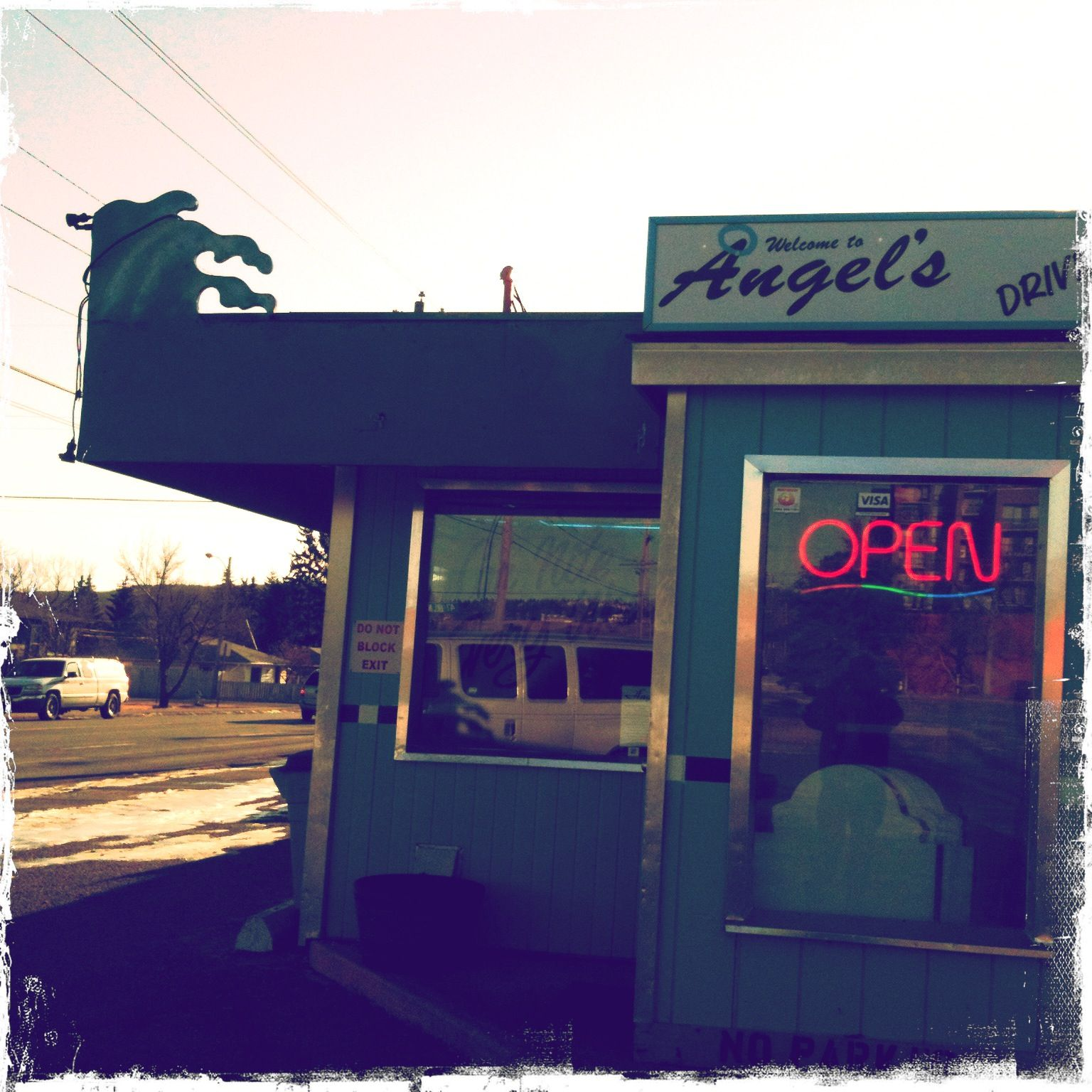 Angel's Drive Inn in Bowness - ALSO: RIVERBEND STATION PUB - http://www.riverbendstationpub.com/burgers-and-sandwiches.html - ALSO: PARTNERS PUB - Partners Bar & Grill Ogden #30 - 7740 18 St. SE (403) 236-3262 - MENU: http://partnerspubs.ca/our-menu/