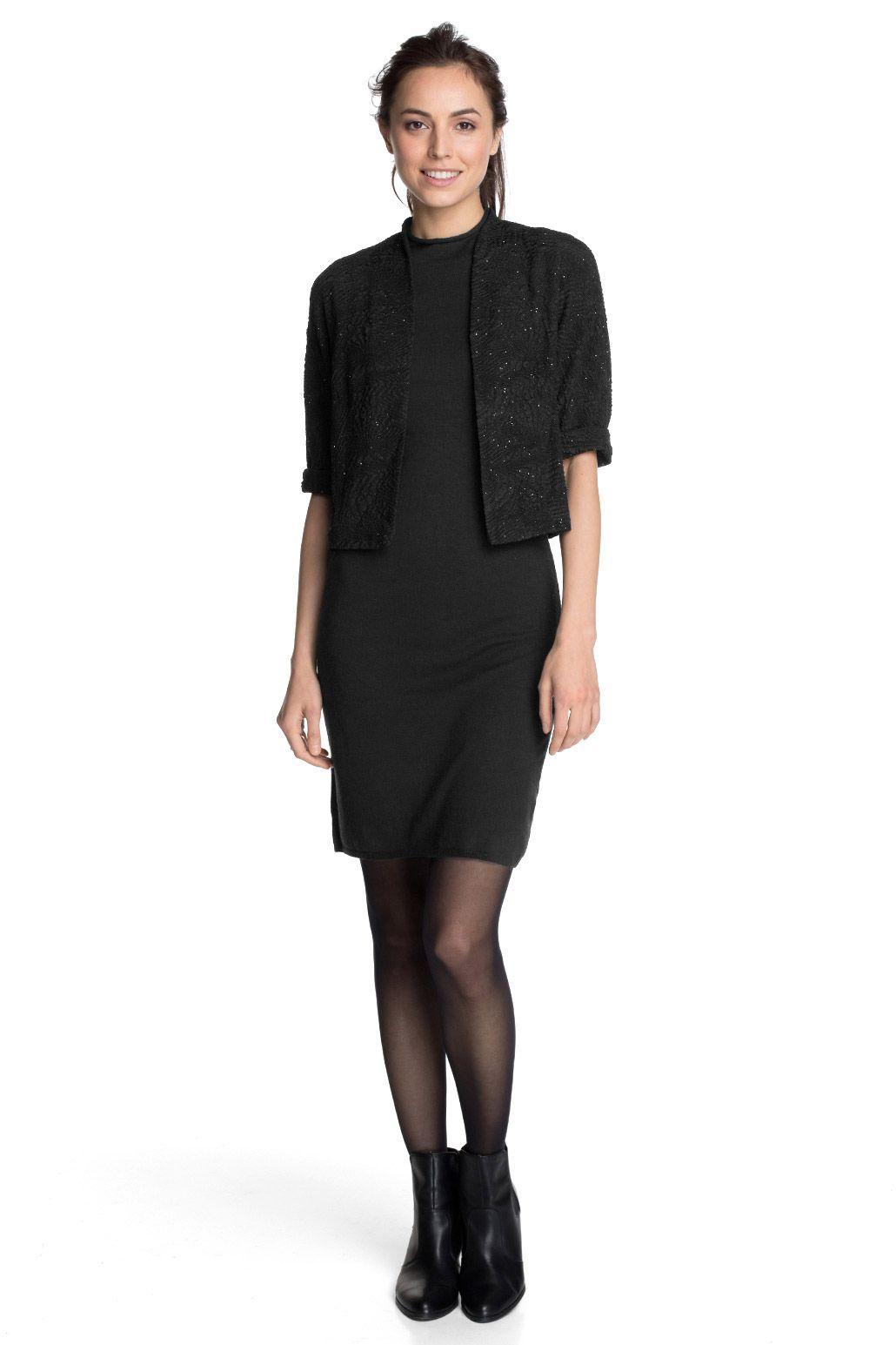 Esprit : Bolero elástico con textura y brillo en la Online-Shop