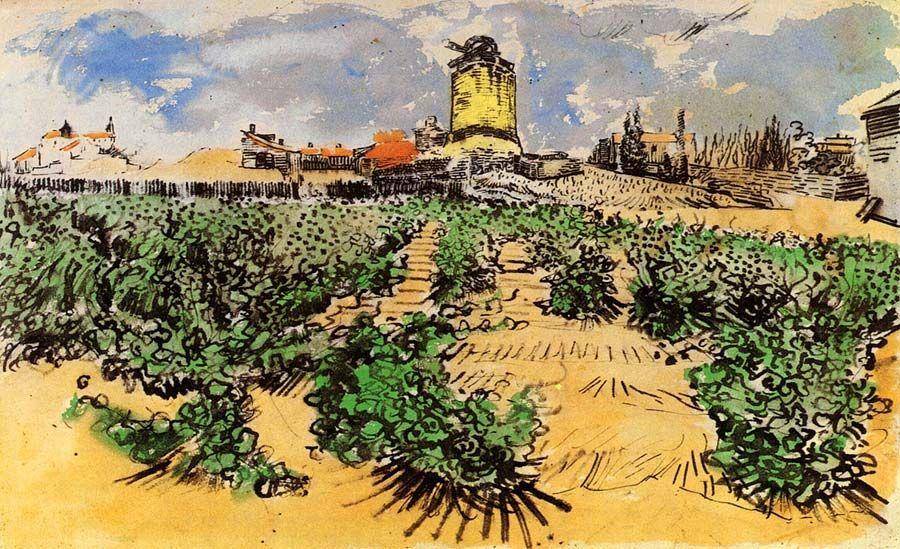 Vincent Van Gogh The Mill Of Alphonse Daudet At Fontevielle