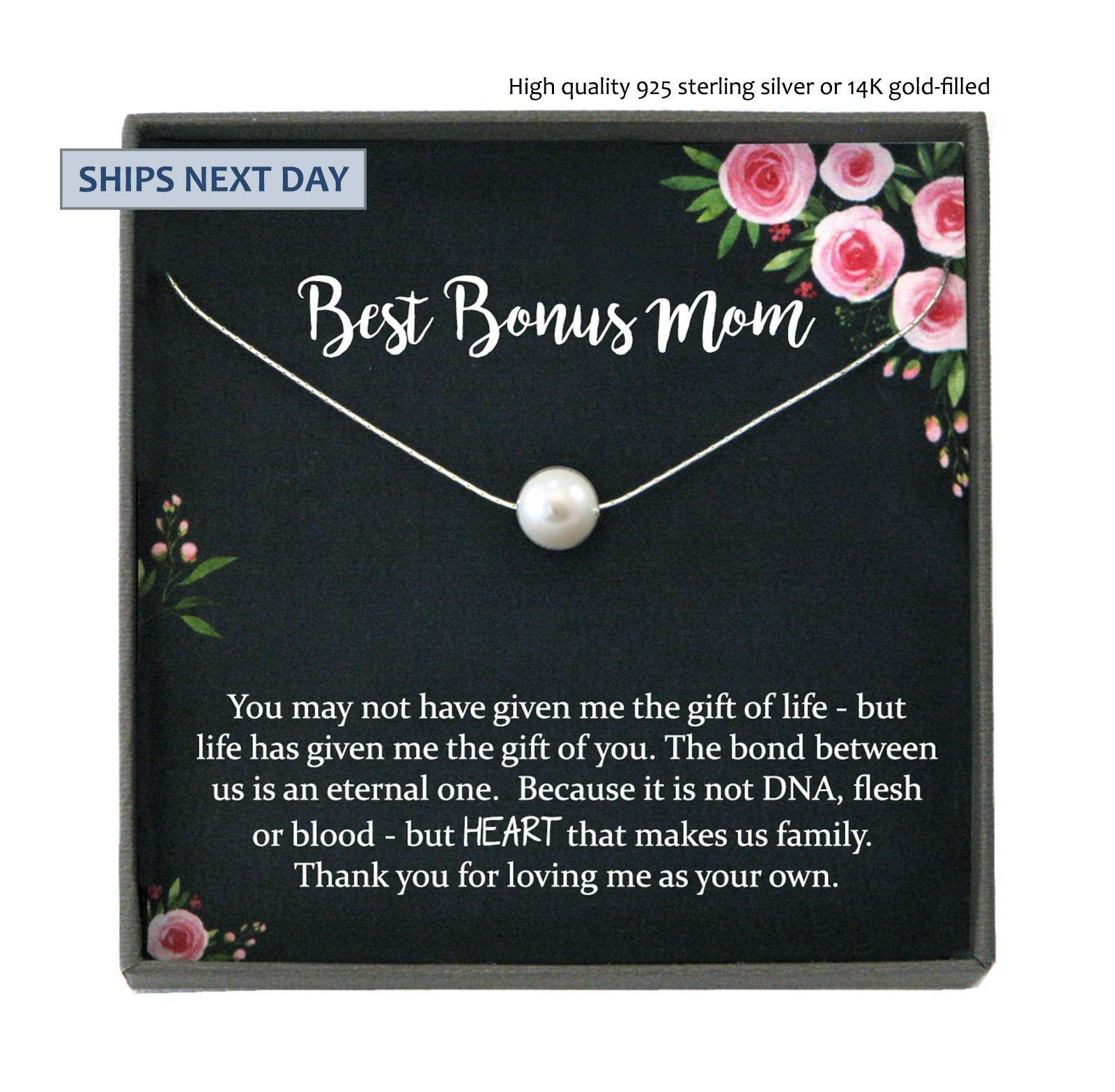 Bonus mom gift for step mother gift from bride step mom