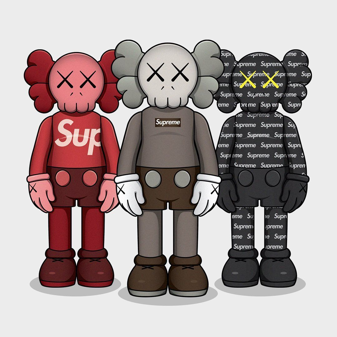 Hypebeast Illustration Print On Instagram Kaws X Supreme This Year Kaws Wallpaper Art Wallpaper Iphone Hypebeast Wallpaper