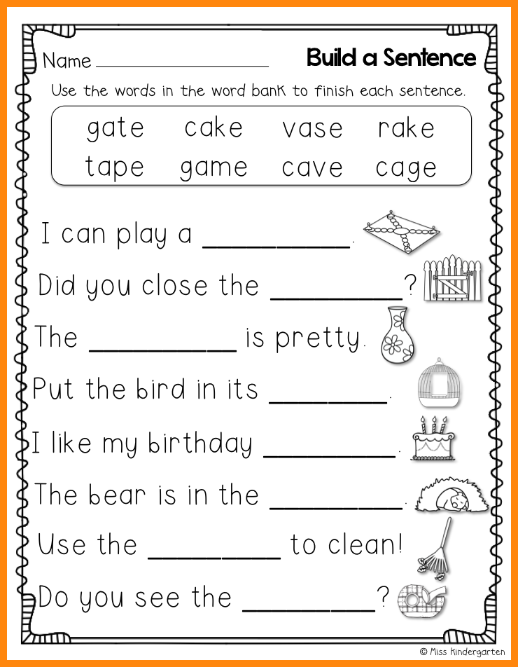 10+ kindergarten sentence writing math cover 1st grade