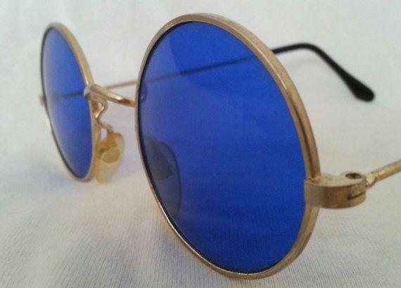 16fe23e578fd Blue Tint Sunglasses by Nejlet on Etsy